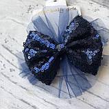 Нарядное синее платье с бантом на девочку на девочку 7. Размеры  98 см, фото 3
