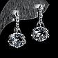 Серебряные серьги с горным хрусталем, 1294СГ, фото 2