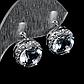 Серебряные серьги с горным хрусталем, 1295СГ, фото 2