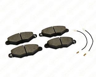 Дискові гальмівні колодки передні, з датчиком на Renault Kangoo 1998>2008 Transporterparts (Франція) 04.0180