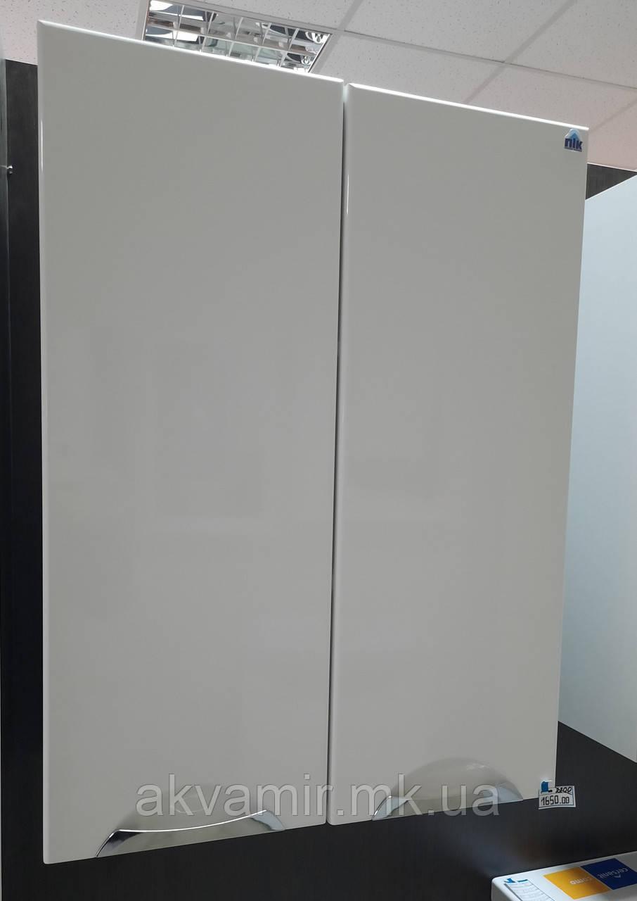 Шкаф навесной в ванную Альвеус ПиК 60 см врезные ручки