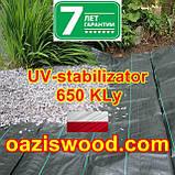 Агротканина 1.6 * 100м 110г/м² BRADAS плетена, чорна, щільна. Мульчування грунту на 7-10 років, фото 6