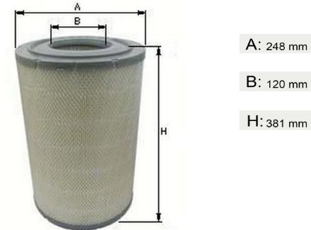 Фильтр воздушный MAN L2000/00-, M2000   81084050015