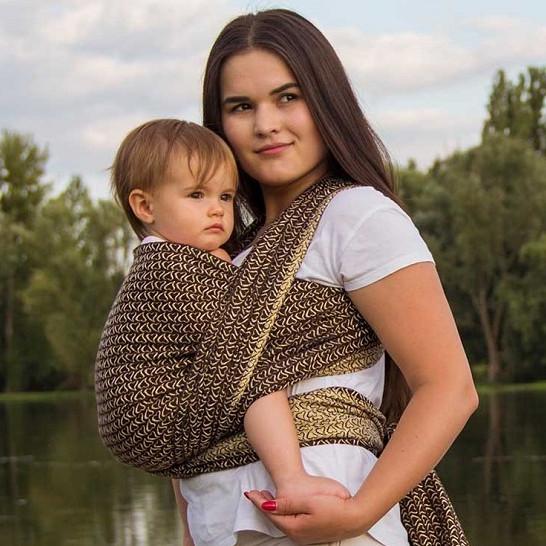 Слінг-шарф LUNA Little DREAM Hearts Gold (4,6 м)