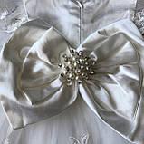 Нарядное белое платье с бантом на девочку на девочку 8. Размеры 3 мес, 9 мес, фото 2