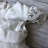 Нарядное белое платье с бантом на девочку на девочку 8. Размеры 3 мес, 9 мес, фото 6