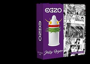 Насадка на член EGZO Jolly Roger (презерватив с усиками) 18+