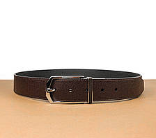 Двусторонний коричневый ремень Louis Vuitton (Луи Витон) арт. 61-01