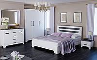 Спальный гарнитур Элен 180x200 белый супер мат + дуб шато