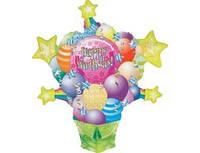 Большой Шар-фигура, букет из мороженого С Днем Рождения, надутый гелием.