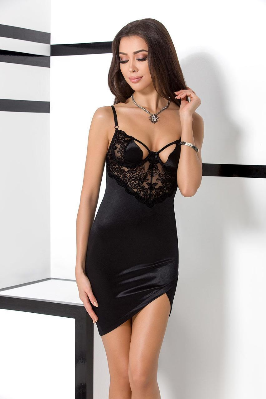 TONYA CHEMISE black L/XL - Passion Exclusive