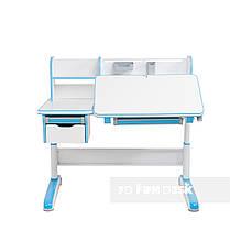 Комплект для мальчика стол-трансформер FunDesk Libro Blue + подростковое кресло FunDesk Primo Grey, фото 3