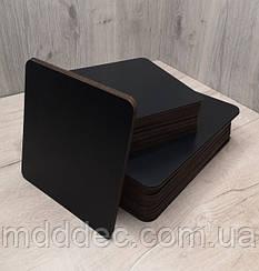 Подложка для торта квадратная черная 25*25 см. Подставка под торт. Усиленная подложка под торт.