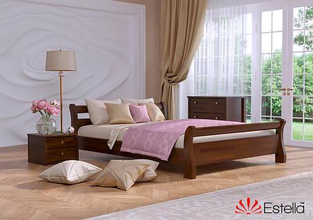 Односпальне ліжко Естелла Діана 120х200 буковий щит (OL-09), фото 2