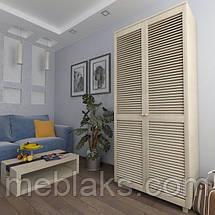 Шкаф с жалюзийными дверями из натурального дерева Сиеко 5ПОЛ 900х450х2080 Тавол, фото 3