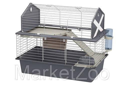 Клетка Ferplast BARN 80 для кроликов, серая, фото 2