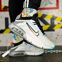 Кроссовки мужские Nike Air Max Vapormax 2090 белые, Найк Вапор макс. Дышащая ткань, прошиты. Код SH-1160