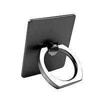 Держатель кольцо для телефона (попсокет / popsocket / подставка) черный, фото 1
