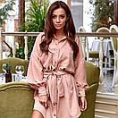 Вельветовое платье на кнопках, фото 3