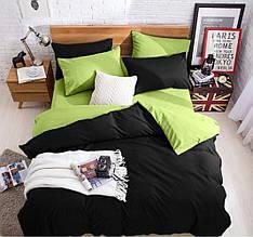 """Двухсторонний комплект постельного белья """"Green Black"""""""