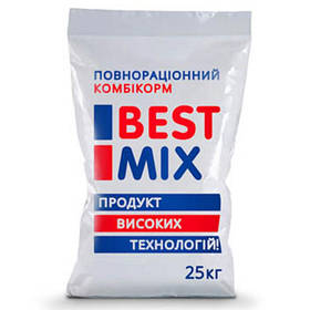 Фінішний комбікорм Best Mix для бройлерів від 38-го дня, 25 кг