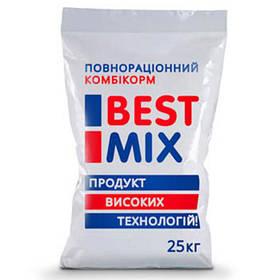 Стартовий комбікорм Best Mix для несучок, качок, гусей від 1 до 9 тижнів, 25 кг