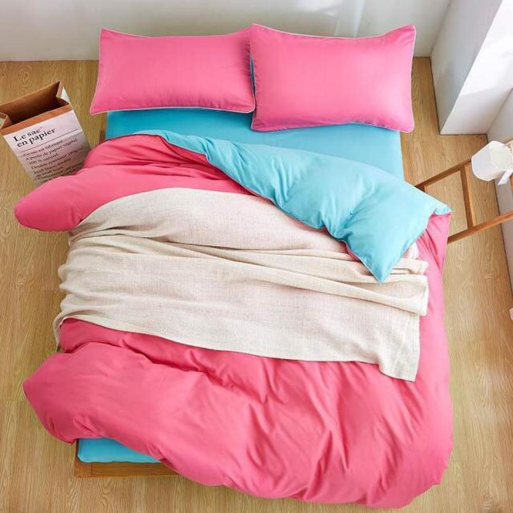"""Двухсторонний постельный комплект """"Pink Blue"""" (Полуторный и Евро)."""