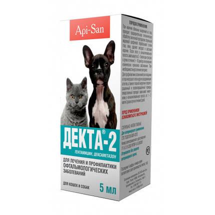 Капли глазные Api-San/Apicenna Декта-2 для лечения офтальмологических заболеваний у собак и кошек, 5 мл, фото 2