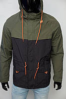 Куртка ветровка мужская GS 7740-1 черная с зеленым