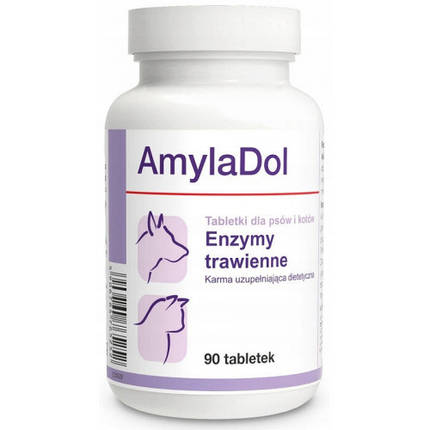Пищевая добавка Dolfos AmylaDol для котов и собак, 90 табл., фото 2