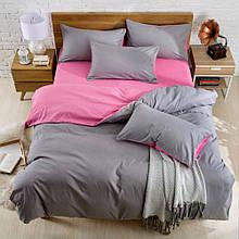 """Двухсторонний комплект постельного белья """"Pink Gray"""""""