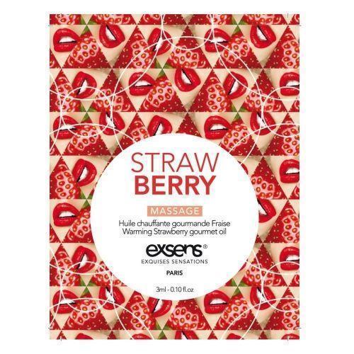 Пробник массажного масла EXSENS Strawberry 3мл
