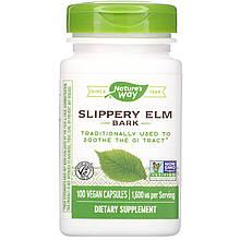 "Кора скользкого вяза Nature's Way ""Slippery Elm Bark"" 1600 мг (100 капсул)"