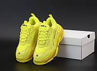 Женские кроссовки Баленсиага Трипл с желтые