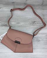 Персиковая женская сумка на пояс T6110 через плечо молодежная маленькая кросс боди, фото 1