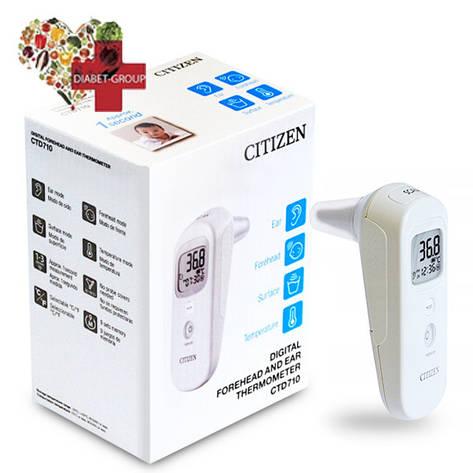 Термометр инфракрасный бесконтактный Citizen CTD 710  ухе или на лбу, фото 2