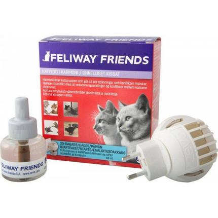 Диффузор Ceva Feliway Friends + сменный блок для снятия стресса и коррекции поведения у кошек, 48 мл, фото 2
