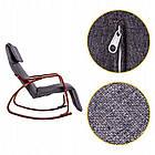 Крісло качалка з підставкою для ніг Goodhome TXRC02 Walnut, фото 5