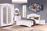 Спальный гарнитур Анжелика 180x200 белый супер мат