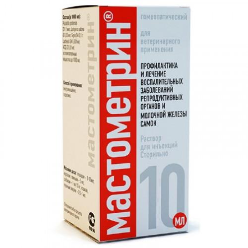 Розчин для ін'єкцій Helvet Mastometrin при функціональних порушеннях молочної залози самок і репродуктивних органів для ВРХ, МРС, коней, свиней,