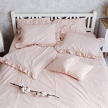 """Комплект постельного белья с рюшами """"Прованс"""".Нюд"""