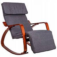 Кресло качалка с подставкой для ног Goodhome TXRC02 Walnut