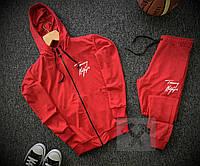 Спортивный костюм с замком TH красный