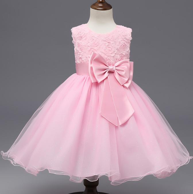 Платье нежно розовое нарядное бальное выпускное нарядное для девочки за колено.