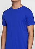 Футболка мужская синяя однотонная MSY, фото 3