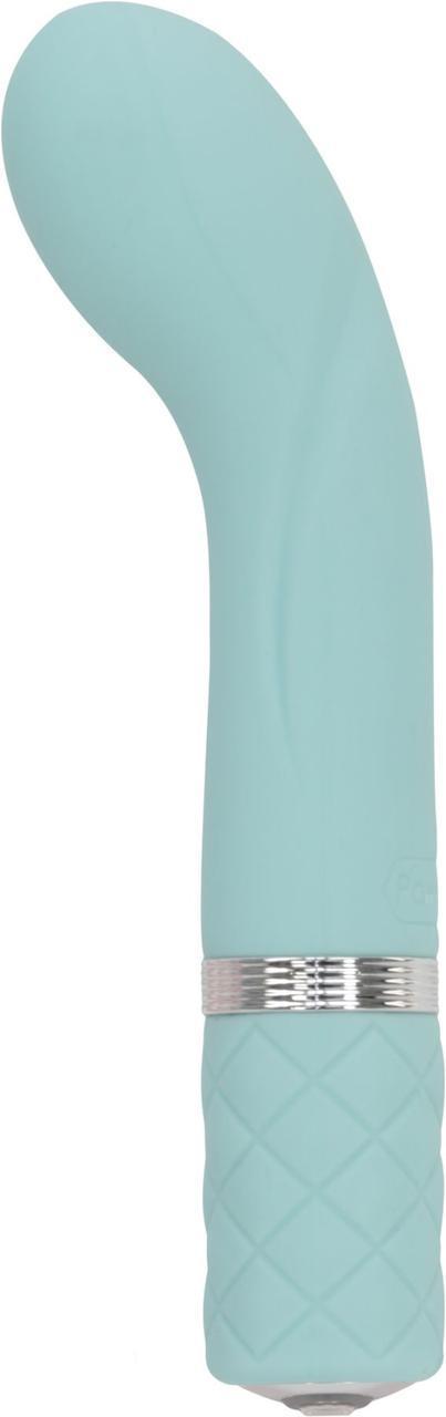 Роскошный вибратор Pillow Talk - Racy Teal с кристаллом Сваровски для точки G, подарочная упаковка