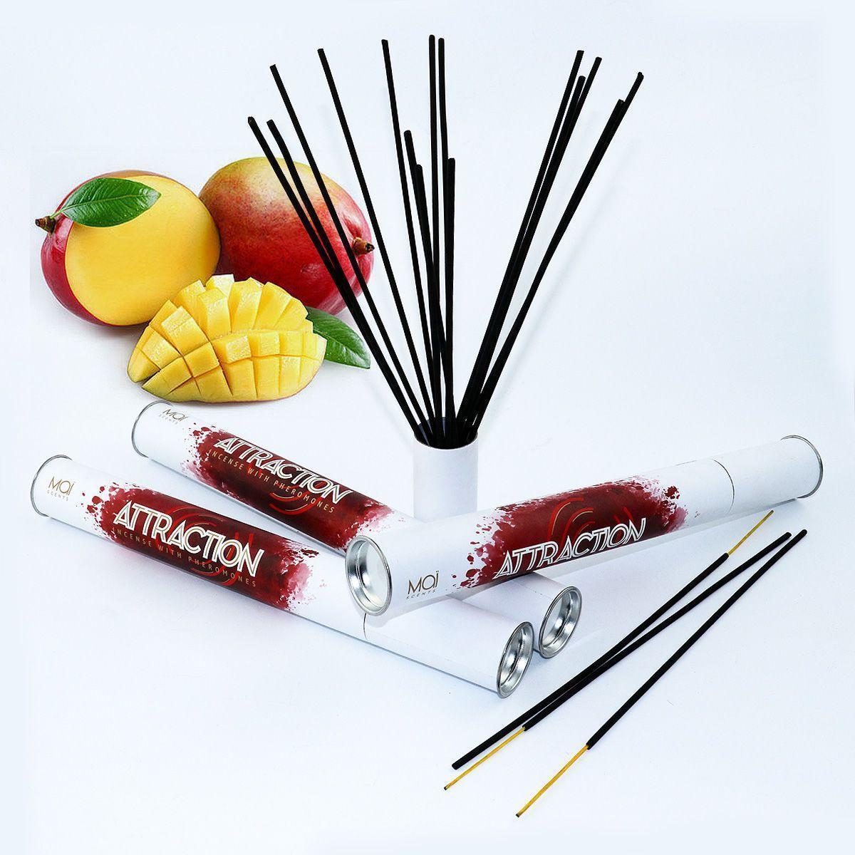 Ароматические палочки с феромонами и ароматом манго MAI Mango (20 шт) для дома, офиса, магазина