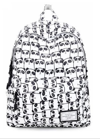 Рюкзак женский Панды черно-белый