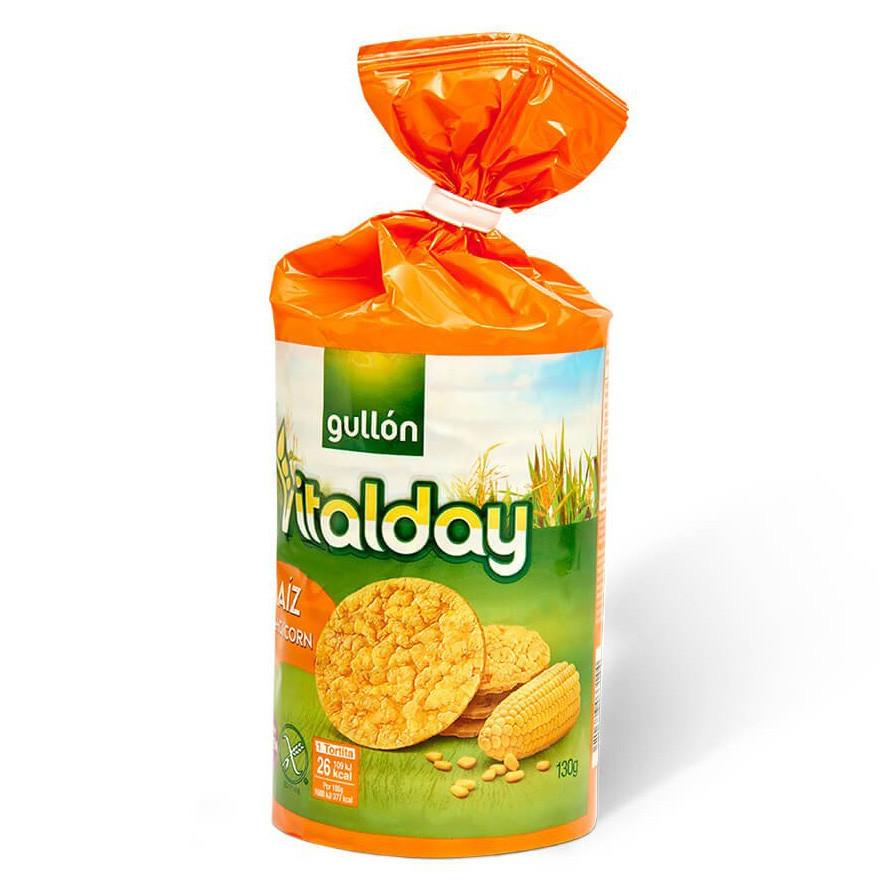 Хлібці GULLON кукурудзяні Tortitas Maiz sin Gluten 130 г, 12 шт/ящ