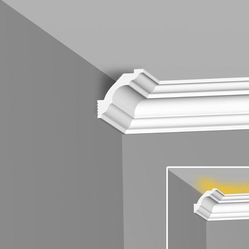 Багет 2м без рисунка (для натяжного потолка и светодиодной подсветки) I50/50 SC